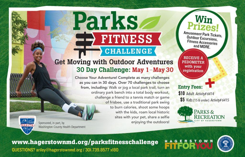 Parks Fitness Challenge flyer