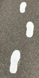 painted footprints
