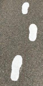 painted footprints