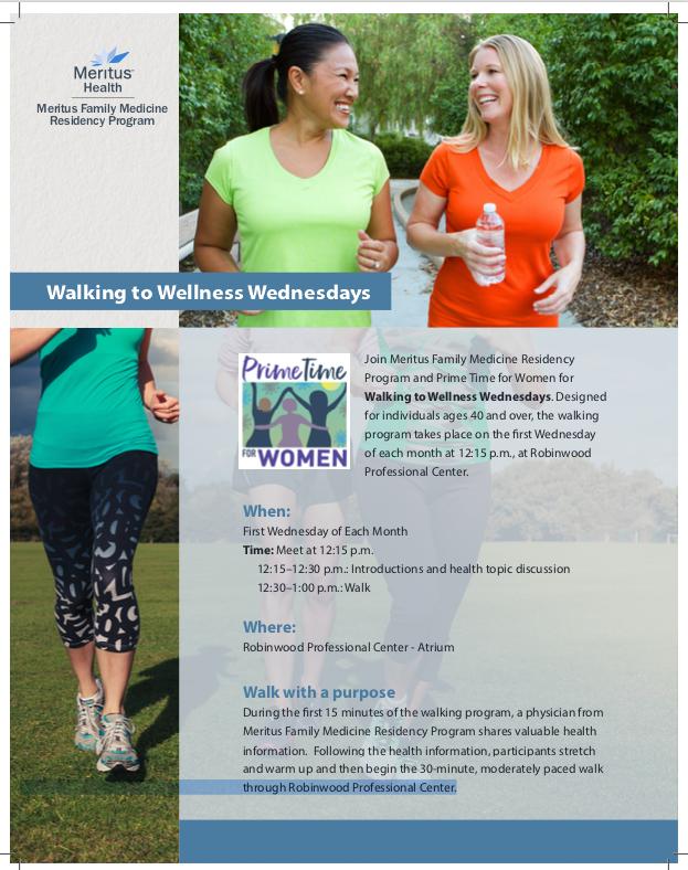 Walking to Wellness flyer